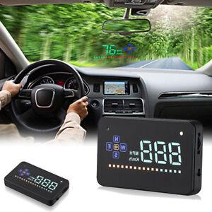 GPS Speedometer HUD Head Up Display Car Overspeed Tired Warning AHFUK