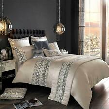 BNWT NEW KYLIE MINOGUE PEBBLE ADIRA DOUBLE DUVET COVER BEDDING AT HOME COTTON