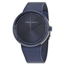 Armani Exchange Liv Blue Dial Ladies Mesh Watch AX4504