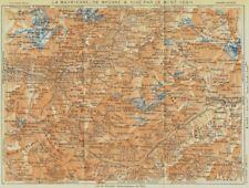 Moriana. Suse Modane MONT-Moncenisio. ALPES Françaises 1926 Vecchio Vintage Mappa Grafico