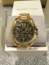 Michael Kors MK5739 Women's Bradshaw Gold tone Plated Stainless Black Dial