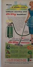 1951 Air-way sanitizor vacuum cleaner sweeper housewife red roses ad