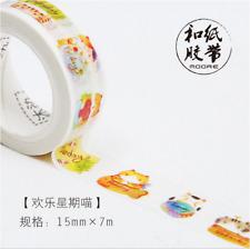 Cat / Kitten 1.5cm X 7m Washi Tape DIY Scrapbook Album Diary