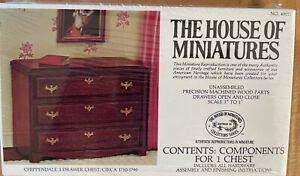 The House of Miniatures #40011 Chippendale 3 Drawer Dresser Chest Circa 1750-90
