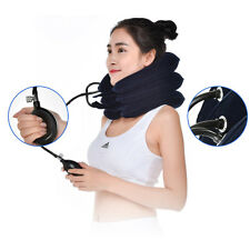 Air Inflatable Cervical Neck Head Pain Traction Pillow Support Brace Device NEW