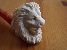 Standard Turkish Meerschaum Tobacco Pipe - Embossed The Lion