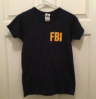 UltraClub FBI Homeland TV Show Prop Women's Blue Gold T-Shirt XS Season 7