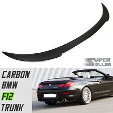 LA Stock V Style Carbon Fiber Trunk Spoiler 2017 BMW F12 Convertible 6-Series