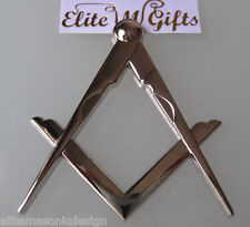New Masonic Master Mason Cut out Car Auto Multipurp emblem silver   EliteMDesign