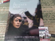 A Private War  Rosamund Pike  & Director autographed 12x18 poster JSA Certified