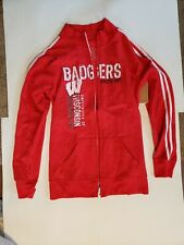Blue 84 women's Wisconsin Badgers Red full zip sweater size X-Large