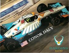 2018 CONOR DALY signed INDIANAPOLIS 500 HERO PHOTO CARD INDY CAR HARDING CHEVY