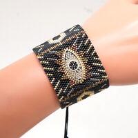 Fashion Handmade MIYUKI Beads Bangle Women Evil Eye Lucky Friendship Bracelet