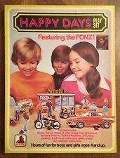1976 Happy Days Playset Paperdolls Arnold's Drive-In Fonzie Richie Potsie +Box