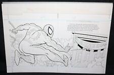 Spider-Man: Caught in the Web pgs.2&3 - Web-Slinging - 1997 art by Steven Butler Comic Art
