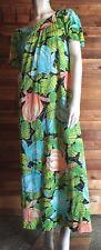 Vintage Floral Size Medium Nightgown or Caftan #8073