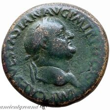 ROMAN BRONZE SESTERTIUS VESPASIAN ROME 71 AD S-C ROMA