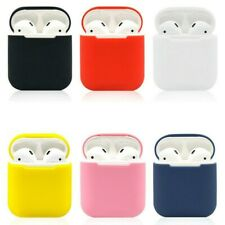 Silicone AirPods Protective Case Airpods Headset Sleeve Shockproof Box Black Red
