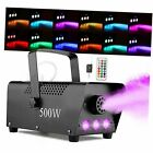 Halloween Fog Machine with Lights - 3 Stage LED Lights with 12 Colors & Strobe