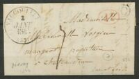 1844 Lettre CAD Vaucouleurs T12 +1D rural rouge + Boîte rurale C Maxey TB. P830