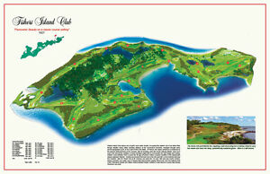 """Fishers Island   - Vintage Golf Course Maps print (30"""" x 19"""")"""
