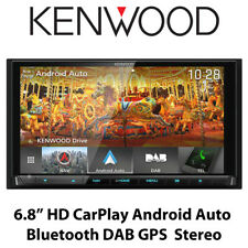 "Kenwood DNX9180DABS 6.8"" HD CarPlay Android Auto Bluetooth DAB GPS Stereo BNIB"