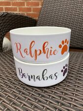 Personalised Name Pet Bowl (Rabbit Cat Dog) Food Or Water - Large