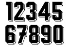 Vinyl 1980's 90's Football Shirt Soccer Numbers Heat Print Football Vintage 6