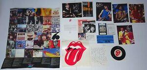 "ROLLING STONES 14pc Fan Club Kit Set 1983 Poster 7"" 45 Photos Postcards Passport"
