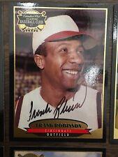 Frank Robinson Canadian Club Autographed Baseball Card - Cincinnati Reds HOF