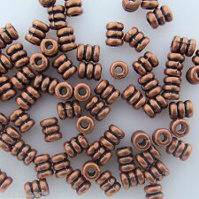 Antique Copper Alloy Metal Screw Design Beads 36 Pieces 4mm x 5mm #0377