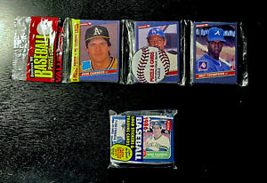 [RARE] UNOPENED CANSECO ROOKIE LOT! 1986 Donruss Rack Pack & 1986 Fleer Cello!