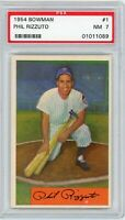 1954 Bowman Phil Rizzuto #1 PSA 7 Near MINT New York Yankees HOF Scooter