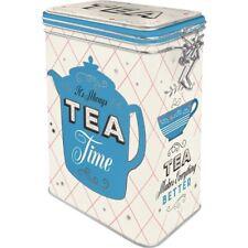 Tea Aromadose With Clamp Lock Storage Hoard Box Metal New