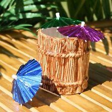 144x Foil cóctel Paraguas Sombrilla Fiesta Tropical Bebidas Bar Colores Mezclados