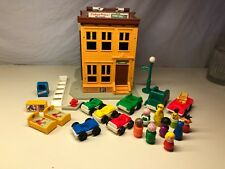 Old Vtg FISHER PRICE Play Family SESAME Street Toy With Accessories Mr. Hooper