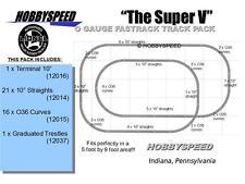 LIONEL FASTRACK THE SUPER V TRACK PACK LAYOUT train 5' X 9' O GAUGE trestle NEW