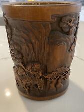 Chinese Antique Hardwood Brush Pot