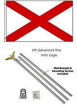 3x5 St. Patrick's Cross Flag Galvanized Pole Kit Eagle Top 3'x5'