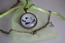 Peter Pan Silhouette. Movie Glass Cabochon Dome Pendant Necklace. Magical. NEW!