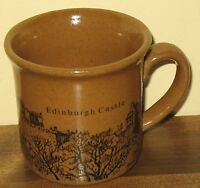 Vintage Edinburgh Castle Art Pottery Coffee Mug  Adam Robson