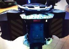 Negro Reflectante Alforja seguridad cheurones BMW R1200RT Agua Enfriado 2014 en adelante