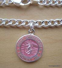 Saint Christopher Mini Surf Medal Bracelet pi-pi Pink/Pink