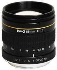 Obiettivi a focus manuale per fotografia e video, con apertura massima F/1, 8