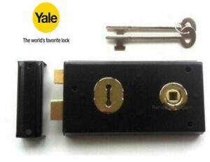 Yale Rim Lock - Rim Sashlock Black Finish P-401-BL