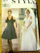 STYLE Sewing Pattern no. 2531 LADIES WEDDING DRESS size 6-16  UNCUT