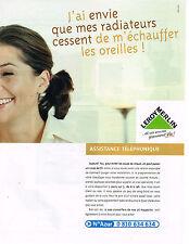 PUBLICITE ADVERTISING 114   2001  LEROY MERLIN  assistance téléphonique