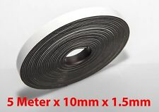 5M X 10mm Flexible Self Adhesive Magnet Rubber Tape Magnetic Roll Craft Strip