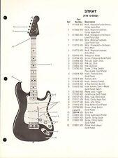 VINTAGE AD SHEET #3617 - FENDER GUITAR PARTS LIST - STRAT 10-0950