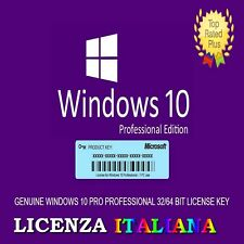 LICENZA WINDOWS 10 PRO RETAIL ITALIANA ORIGINALE 32/64 BIT KEY WINDOWS 10 PRO 🔑